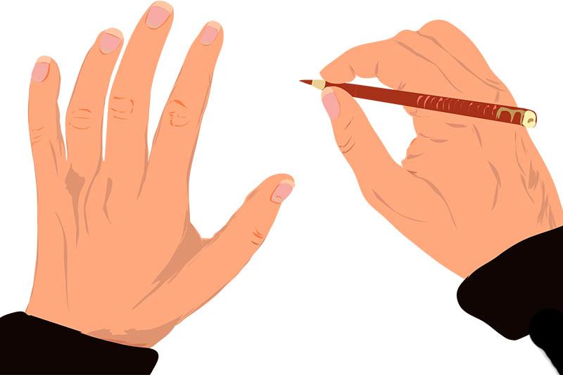 meine Zeichnung von meinen Händen