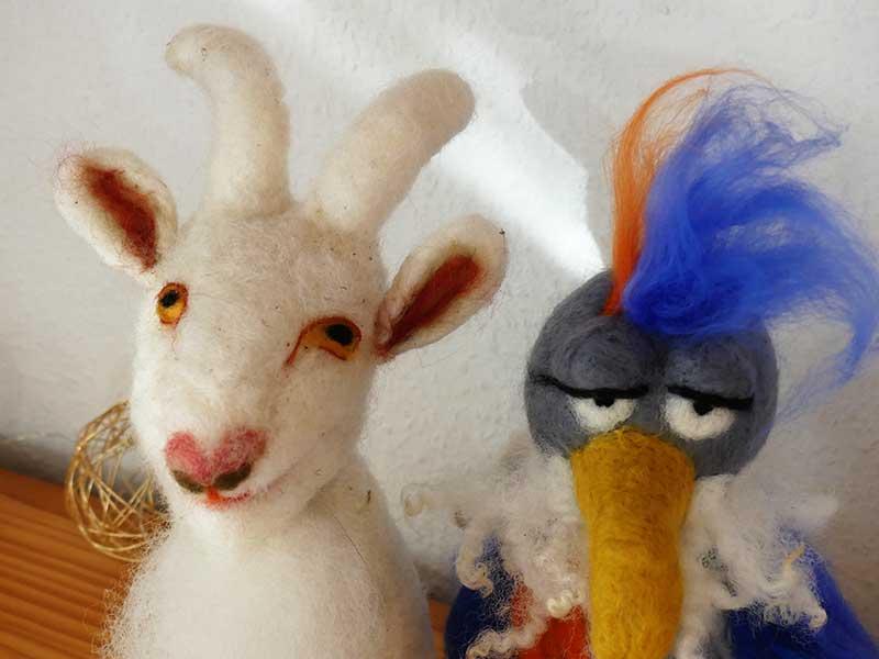 Nadelfilzen - Figuren mit der Nadel und Wolle gestalten