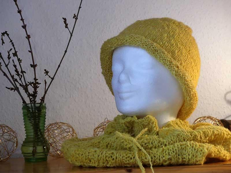 Mütze und Schalkragen