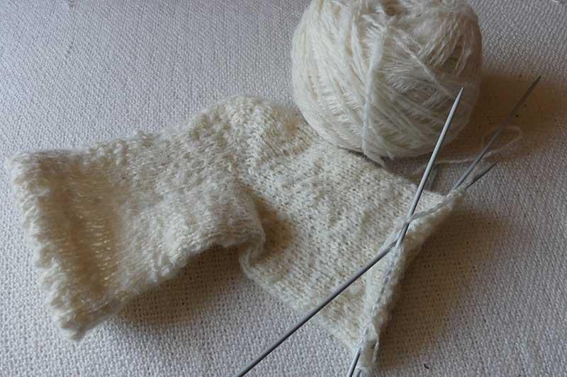 Schafwoll-Socken für einen Freundin