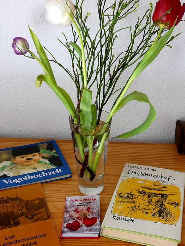 Silke vom Literaturtreff Leipzig-Grünau hat Bücher für mich gesammelt