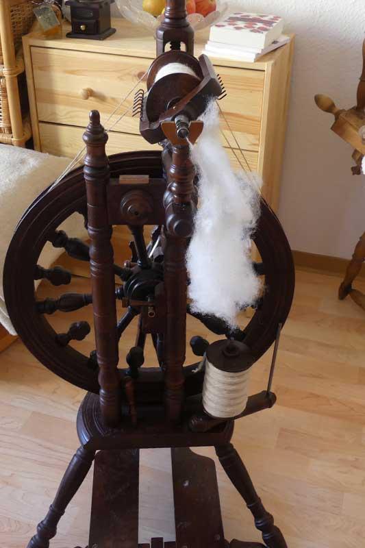Wolle spinnen im Stubenarrest