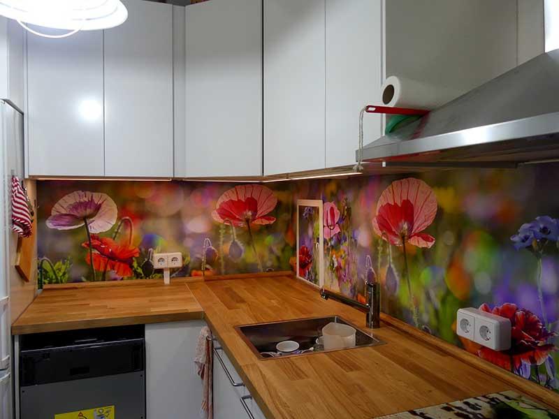 die Küche in der neuen Wohnung