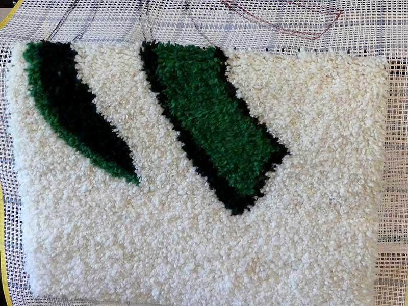 Teppich knüpfen aus Schurwolle