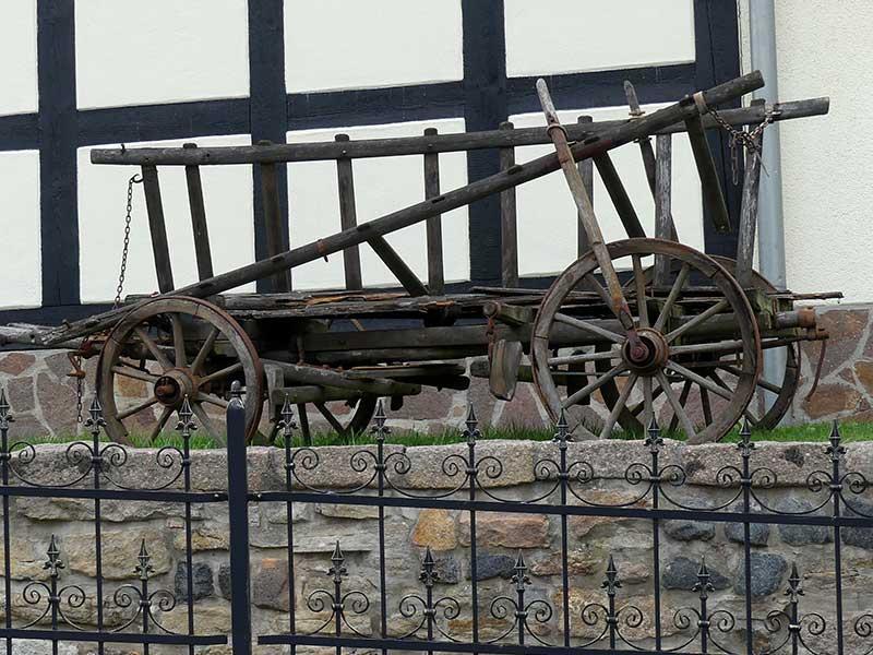 alter Leiterwagen in Wintersdorf