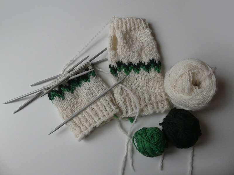 stricken für gute Laune