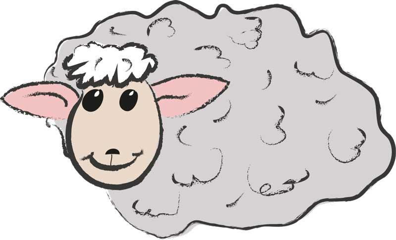 Anhänger für meine Socken aus Schafwolle