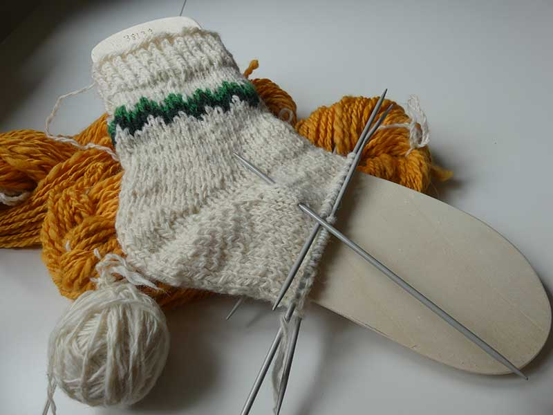 Wollsocken stricken