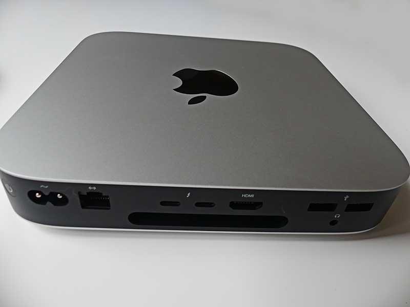 die Anschlüsse am Mac Mini