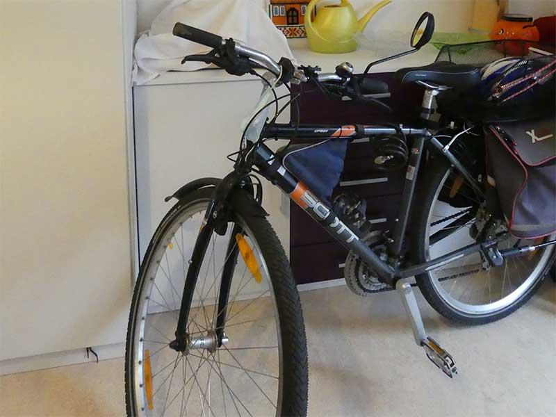 Das Fahrrad in meinem Zimmer