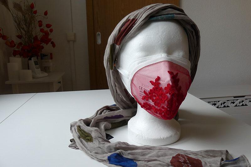 Dekormasken über die medizinischen Masken
