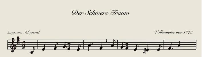 Brahms, alte und manchmal ergreifende Lieder und ein Reiseziel.