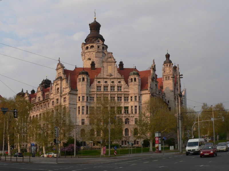 Leipziger Rathaus am Abend