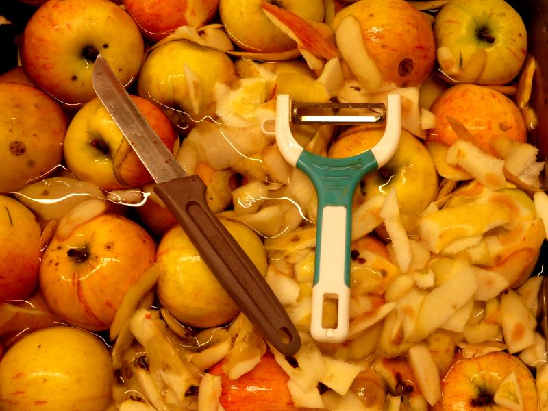 Äpfel verarbeiten
